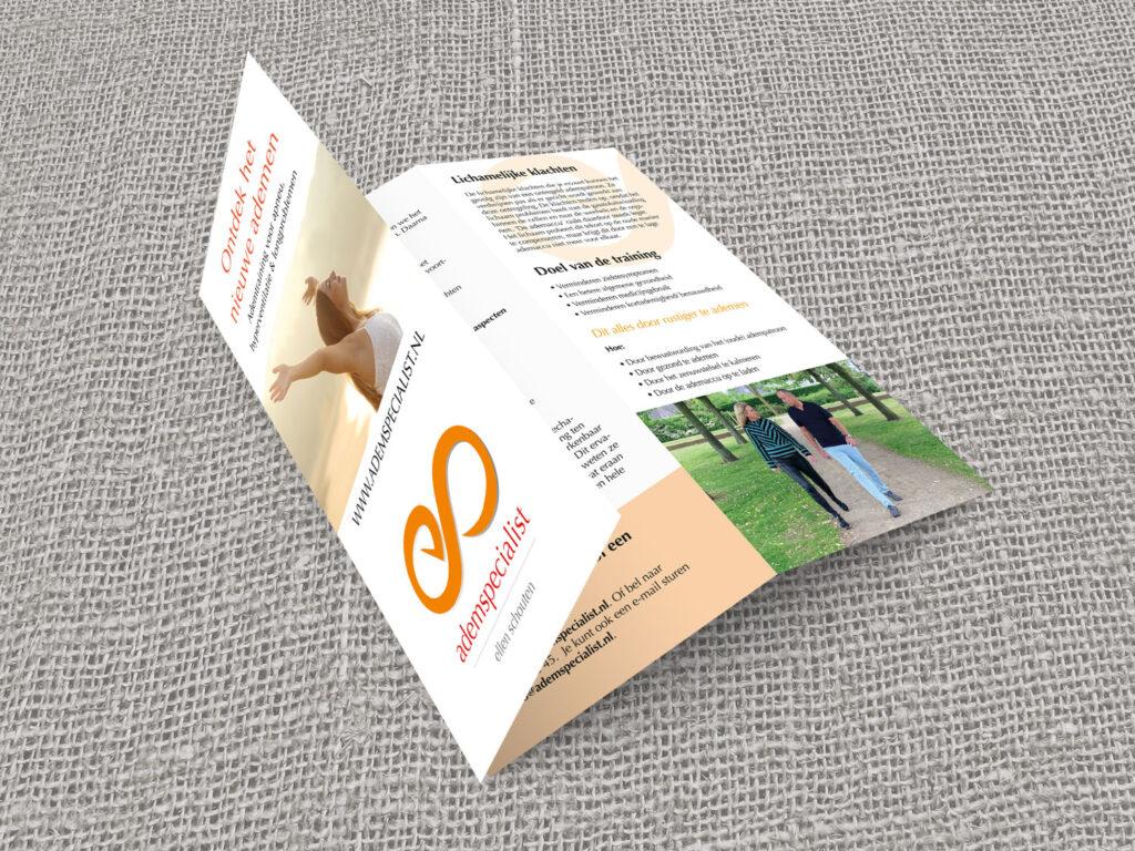 drukwerk folder ontwerp